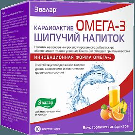 КардиоАктив Омега-3, шипучий напиток