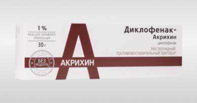 Диклофенак-Акрихин (мазь) 1
