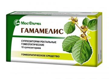 Гамамелис суппозитории МосФарма