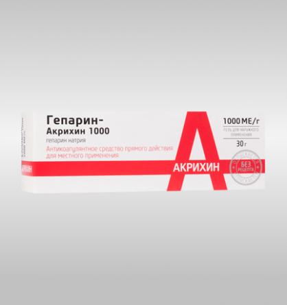 Гепарин-Акрихин 1000 (гель)