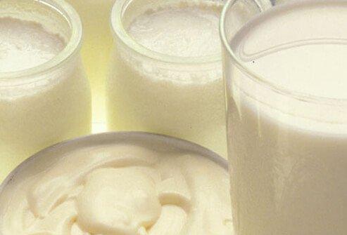 Йогурт и молоко