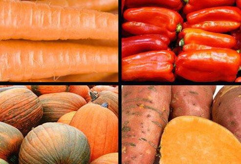 Оранжевые овощи